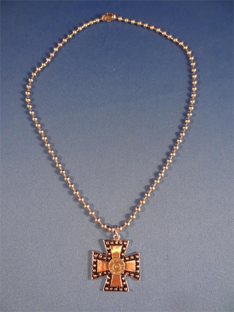 iron cross pendant with 9 mm high caliber