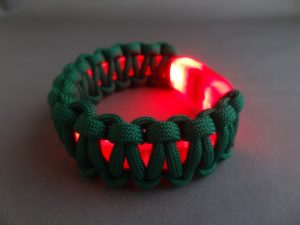 Light-Up Christmas Bracelet in Low Light
