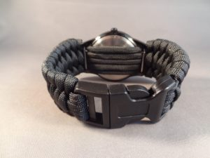 Paracord Watchband & Watch with .38 Special Case Heads