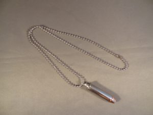 .357 Magnum Cartridge-Nickel Plated & Hollow Point Bullet