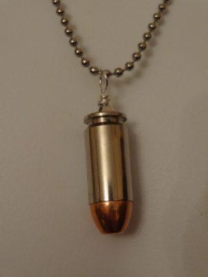 .40 Caliber Cartridge-Nickel Plated Case & Full Metal Jacket Bullet