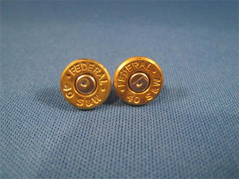 40 Caliber Case Head Earrings