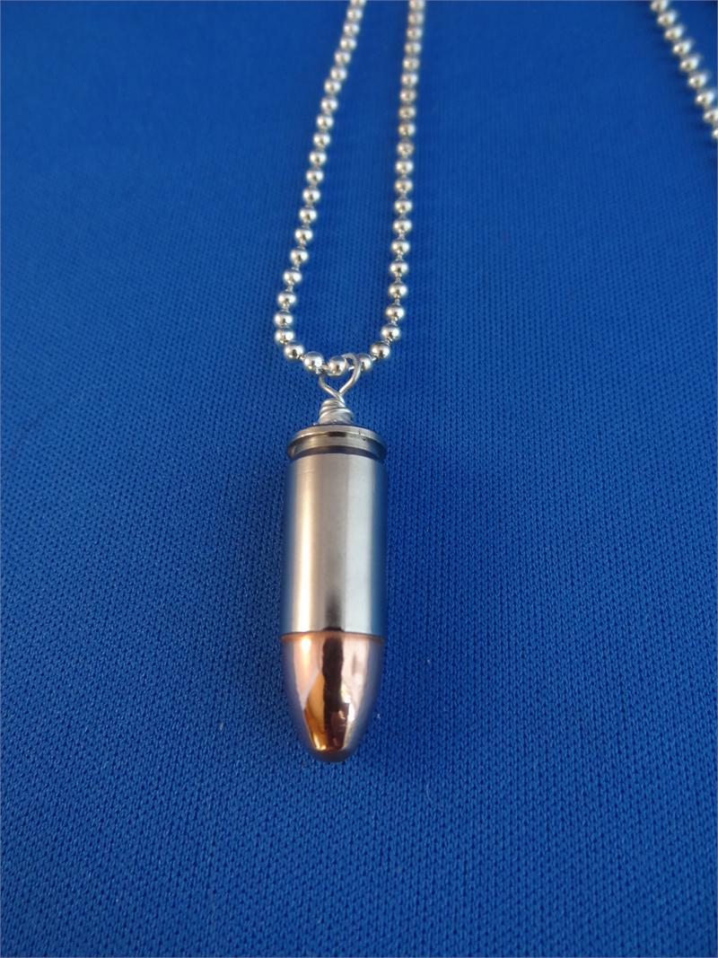 9 mm Nickel Plated Case/FMJ Bullet