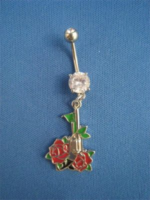 Belly Button Ring-Gun & Roses
