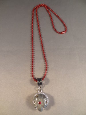 Expanded 9 mm Hollow Point Necklace with Red Trim 2