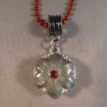 Expanded 9 mm Hollow Point Necklace with Red Trim 3