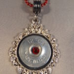 12 Gauge Necklace with Red Trim 1