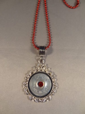 12 Gauge Necklace with Red Trim 2