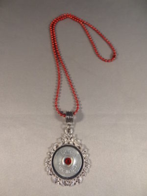 12 Gauge Necklace with Red Trim 3