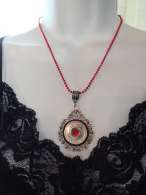 12 Gauge Necklace with Red Trim 5
