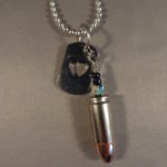 9 mm with Heart Dog Tag 3