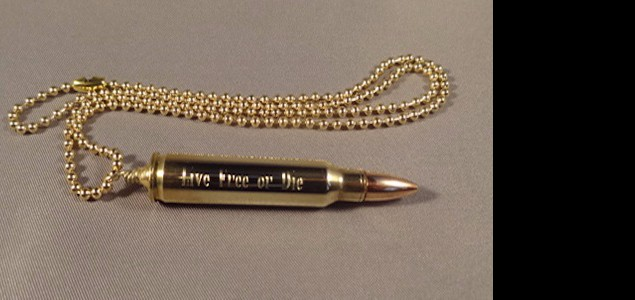 Live Free or Die .223 Necklace