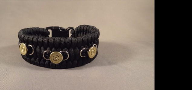 Custom Made Paracord Bracelet with .45 ACP Case Heads