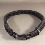 Reflective dog collar -Fishtail Weave