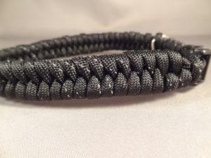 Reflective dog collar -Fishtail Weave
