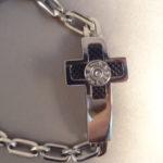 Men's 9mm Cross Bracelet