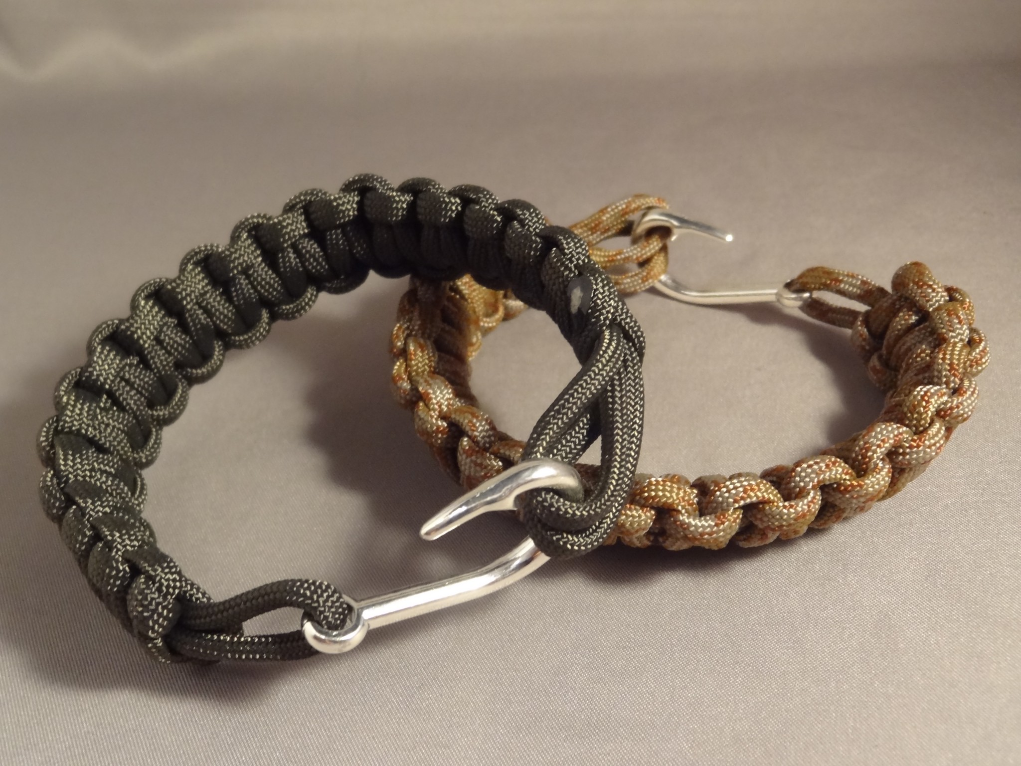 Fish Hook Clasp Paracord Bracelet High Caliber Creations