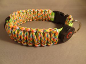 "LED Dog Collar-Green/""Birthday Cake"" Cord"