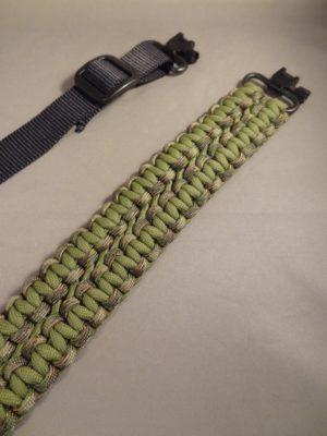 Custom Gun Slings -Green/Camo-Pattern-Side One