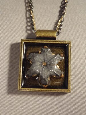 Expanded Hollow Point Square Pendant .45 ACP