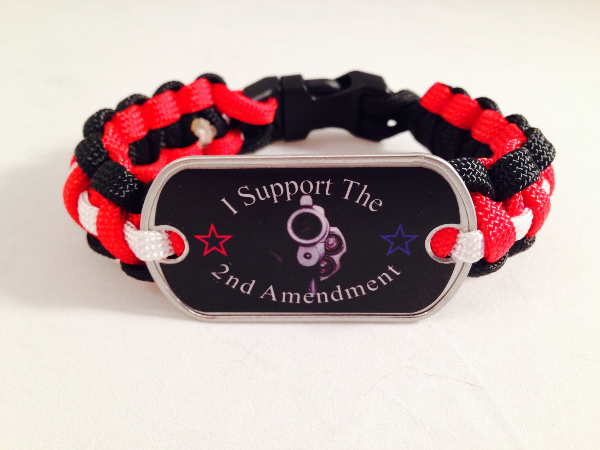 """I Support the 2nd Amendment"" Paracord Bracelet"