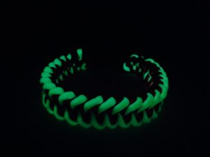 Glow-in-the-dark Dog Collar as seen in the dark