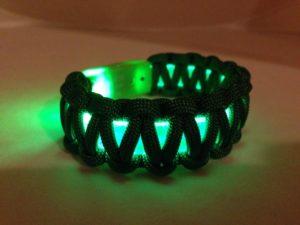 Green LED Light Up Bracelet