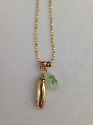 Lucky Shot Brass 9 mm Necklace