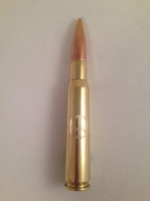.50 Caliber Bottle Opener with Peace Sign