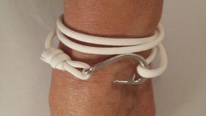 Glow in the Dark Fish Hook Wrap Bracelet