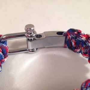 Red, White & Blue Bracelet with Compass Shackle