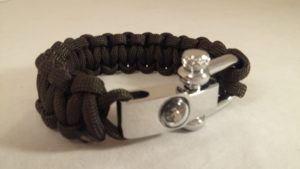 OD Green Cobra Weave Bracelet with Compass Shackle