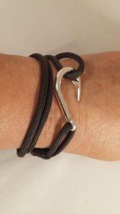OD Green Fish Hook Wrap Bracelet
