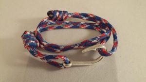 Patriotic Fish Hook Wrap Bracelet