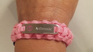 Pink Adjustable Medical ID Bracelet