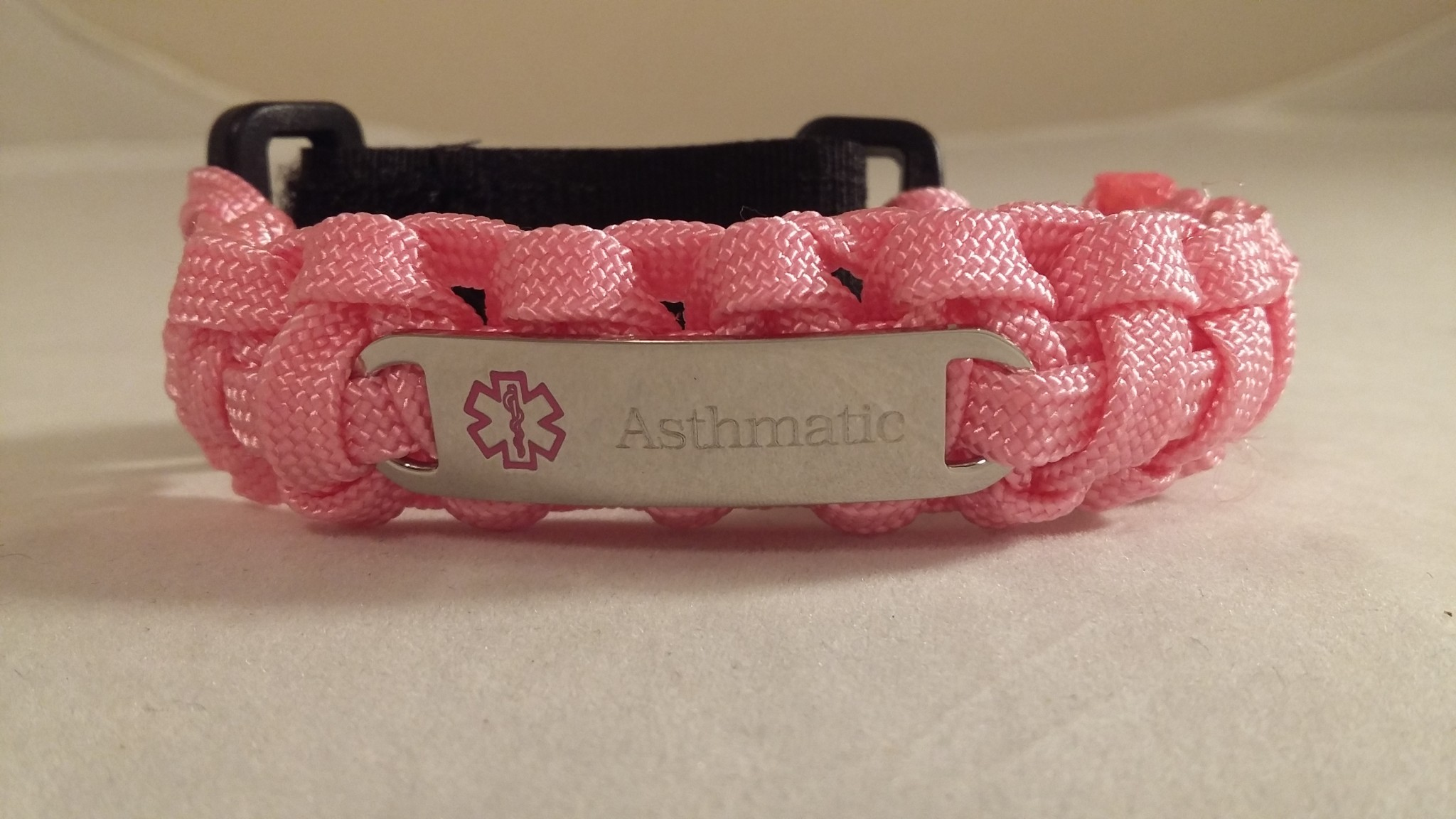 Pink Adjustable Medical ID Bracelet