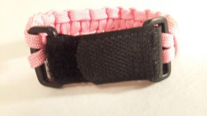 Adjustable velcro buckle on medical id bracelet