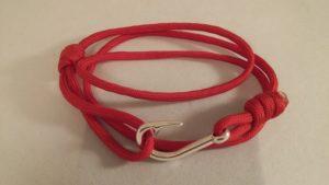 Red Fish Hook Wrap Bracelet