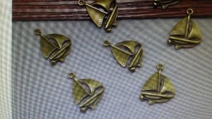Bronze Sailboat Charm