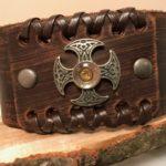 Round celtic cross bracelet with case head 1