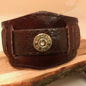 Vintage military pilot bracelet with 45 case head 1